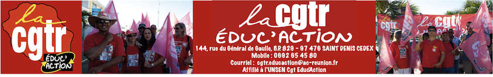 Syndicat Réunion : CGTR Educ'Action